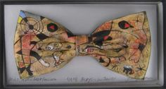 Miro's A Dew Drop Falling by Jack Kirwan - BOWTIE Bow Ties, Bows, Hand Painted, Drop, Cool Stuff, Fall, Artist, Painting, Clothes
