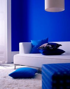 Blue And White Rooms decorating with navy blue and indigo | indigo walls, indigo and