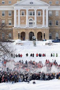 Last winters snowball fight on campus (at Bascom Hill).