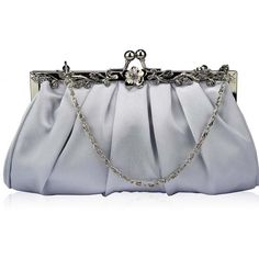 Handbags & Shoulder Bags Xardi London Rhinestone Diamante Satin Bridal Wedding Clutch For Women Designer Silk Handheld Long Bridesmaid Ladies Evening Prom Parties Bag with Long Chain Women's Handbags