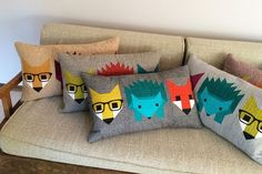 I recently used my Fancy Fox and Hazel Hedgehog patterns to make some quilted pillows for a...