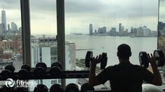 """Fitness Blender in New York! Hotel workout vlog - we had a gym full of incredibly expensive, """"high tech"""" workout equipment and all we used was dumbbells lol! Let us know if you want more videos like this one smile emoticon https://www.youtube.com/watch?v=P_bOWBoH4TQ"""
