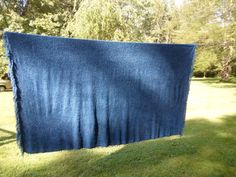 Vintage Blue Chenille Bedspread Twin Single by KimsKreations17, $44.99