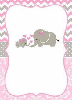 Tarjetas Baby Shower Niña, Invitaciones Baby Shower Niña, Imprimibles Baby Shower, Elephant Party, Elephant Baby Showers, Baby Elephant, Baby Shower Table Decorations, Baby Shower Centerpieces, Baby Shower Themes