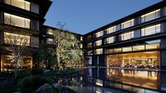 The hotel is located precisely where the centuries-old Kyoto residence of the Mitsui family—the original founders of a slew of Japanese corporations—once stood. Beneath its five-star sheen and contemporary décor (by creatives including architect Akira Kuryu and Hong Kong–based Andre Fu) the new-build hotel, home to 161 rooms and two restaurants, is firmly rooted in its Kyoto heritage. It is located opposite the 17th century UNESCO-listed Nijo Castle. Birch Floors, Nijo Castle, Luxury Collection Hotels, Spring Spa, Chestnut Horse, Dark Walls, New Property, Hotel Spa, Hot Springs