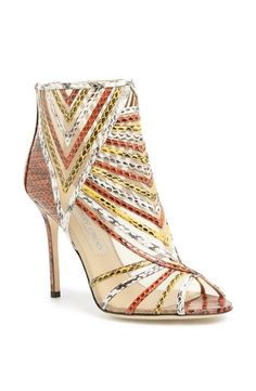 Jimmy Choo embossed leather bootie. Love the metallic details!