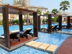 Intercontinental Hotel pool, Hua Hin, Thailand