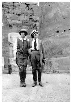 Lady explorerers  1920's ( you & I) back in the day ( this would have been us).  :)