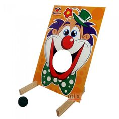 Divertido jogo de mira, o objetivo é acertar a boca do palhaço com a bolinha! Quanto mais longe, maior o desafio!