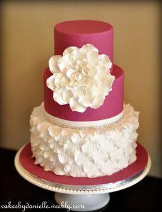 Ruffles of Petals Cake
