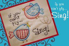 """""""Sing"""" - Stitchery Pattern"""