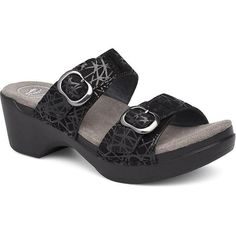 lightweight construction with fully adjustable straps. Comfort never looked so good. Shop today for the healthiest and most comfortable sandals you can buy! Most Comfortable Sandals, Dansko Shoes, Black Suede, Beige, Bands, Construction, Leather, Sock, Fit