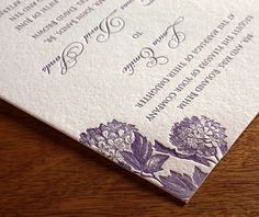 Laura is a floral wedding invitation design that is ideal for spring weddings and beyond.