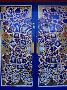 { Happy Habitat }: fretwork.... doors to Moroccan restaurant