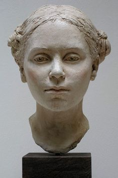Laurie by artist Suzie Zamit Plaster and pigment