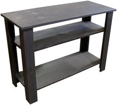table with shelves. sofa table with shelves