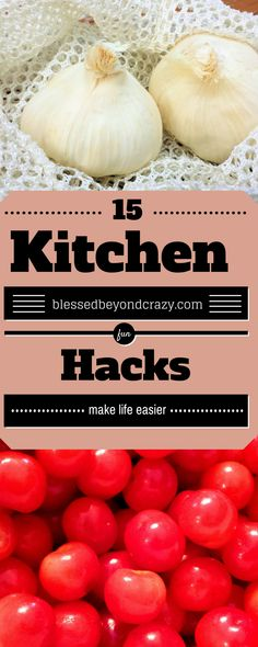 15 Kitchen Hacks That Make Life Easier. I hadn't heard of most of these before. Will definitely be using some of these now! #blessedbeyondcrazy