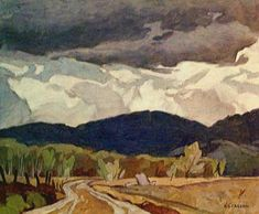 Canadian - - The Group of Seven - Northern Road Canadian Painters, Canadian Artists, Group Of Seven Paintings, Tom Thomson Paintings, Emily Carr, Mountain Art, Modern Artists, How To Make Light, Art Studies