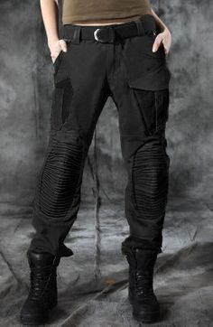 Military style mens trousers army black by WildThingsShop on Etsy