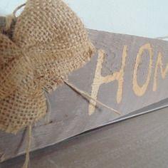 """Plaque de porte/plaque décorative bois de palette """"home"""""""
