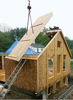 Simple timber frame using sips construction sites for Murus sips