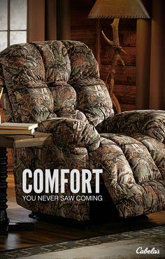 Camo furniture. Need we say more?