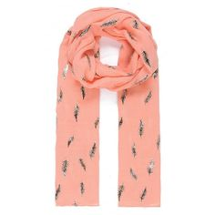 Jewelcity Coral Fern Metallic Print Scarf: The Jewelcity coral fern metallic print scarf is the perfect spring summer accessory, in the fresh coral colour the fern scarf will compliment any outfit. This beautiful scarf is covered with a unique fern two tone metallic print. The fun and contemporary Coral fern metallic print scarf is lightweight and perfect for pairing with your new season wardrobe. The large rectangular scarf comes in a standard size of 70 x 180cm so can be worn in a variety…