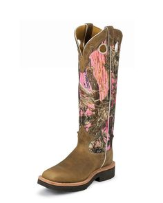 pink camo snake boots