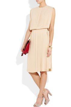 Chloe Pleated silk gorgette dress £1140 (40% off) at Net a Porter