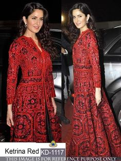 Katrina Red And Black Gown