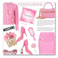 One Color, Head to Toe - Cute Pink: 27/02/17 (WGC) by pinky-chocolatte on Polyvore featuring polyvore moda style Moschino fashion clothing