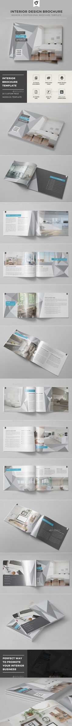 Interior Design Brochure Template #design Download: http://graphicriver.net/item/interior-design-brochure-template/12474610?ref=ksioks