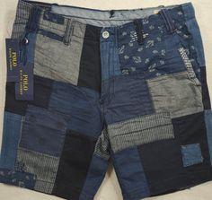 Polo Ralph Lauren 36 38 & 40 Striaght Fit Denim Chambray Patchwork Shorts | eBay Chambray, Polo Ralph Lauren, Men's Polo, Refashion, Patterned Shorts, Fit, Bermuda Shorts, Indigo, Celebs
