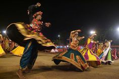 The Navratri , where goddess durga is revered for nine days is celebrated with the energetic garba dance in Gujarat. Visit Gujurat during Navratri to truly feel the spirit of Gujarat! Navratri Garba, Navratri Festival, Happy Navratri, Festivals Of India, Indian Festivals, Happy Holi, Garba Dance, Garba Songs, Dussehra Celebration