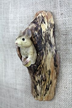 Mouse Wood Carving Hand Carved Wall Sculpture By Mike Berlin by BerlinGlass on Etsy