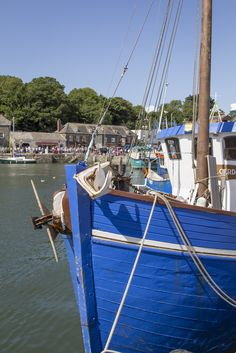 Another sunny day in Padstow - wish you were here? Sail Away, Wish You Are Here, Fishing Villages, Fishing Boats, Cornwall, The Locals, Sunny Days, Sailing, Saints