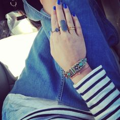 Laura from the danish blog Stylejunkie.dk with her new Carré rings.
