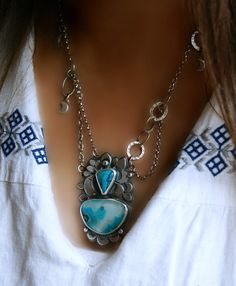 Looking on From Heaven  Gem Silica Chrysocolla by MercuryOrchid, $290.00