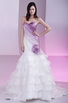 Purple Wedding Dresses | Cut Purple Dress Toga Gown ...