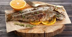 Grilled Orange Marinated Trout - The Sporting ChefThe Sporting Chef Baked Trout, Grilled Trout, Baked Fish, Healthy Grilling, Grilling Recipes, Paleo Honey, Trout Recipes, Freshly Squeezed Orange Juice, Chic