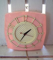Pink Retro Clock  http://www.flickr.com/photos/oldglory/sets/72157624465594534/