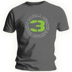 Official T Shirt CALL OF DUTY Charcoal Grey Logo MW3 GREY BATCH
