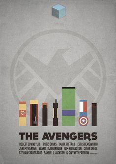 The Avengers - minimalist poster