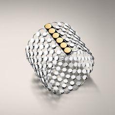 John Hardy DOT COLLECTION Wide Link Bracelet ($1,495) ❤ liked on Polyvore