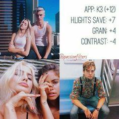 K3 Highlights Save +7 Grain +3 Contrast -4