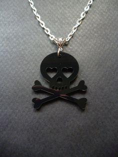 Skull and Crossbones necklace  Rocker jewelry  Rock by BleedingHD