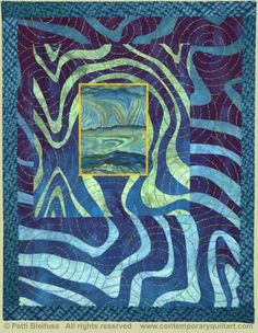 "Image of ""Water World"" quilt by Patti Bleifuss"