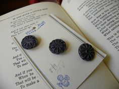 Vintage Glass Buttons. $4.50, via Etsy.