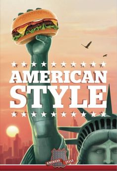 Poster campaign for a hamburger restaurant chain called American Style American Style Hamburger Restaurant Chain: Statue, 1