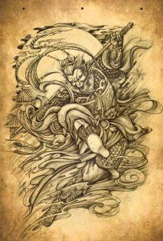 Tattoos From Around The World – Voyage Afield Tatuajes Tattoos, Sun Tattoos, Body Art Tattoos, Japanese Tattoo Art, Japanese Tattoo Designs, Japan Design, Monkey Tattoos, Japan Tattoo, Oriental Tattoo